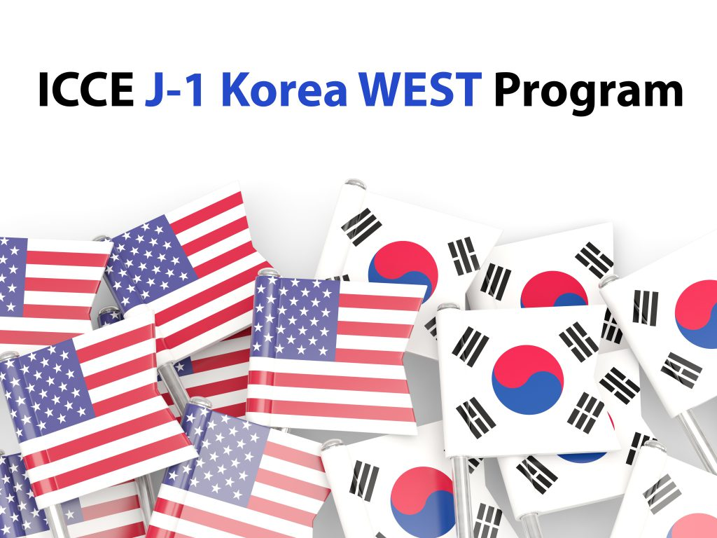 Flags of USA and South Korea isolated on white. 3D illustration